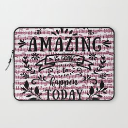 Notes are the building blocks of much written music Laptop Sleeve