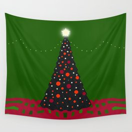 Christmas Tree with Glowing Star Wall Tapestry