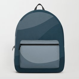Abstract Color Waves - Blue Palette Backpack