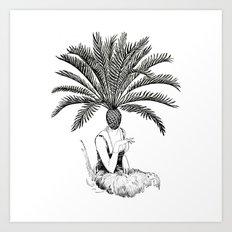 Palm Tree Head Art Print