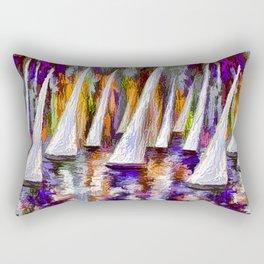 Sails To-Night Rectangular Pillow