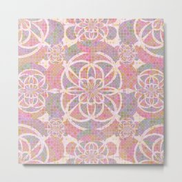 Violet red geometry Metal Print