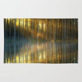 Sunlit Forest Reflection Rug