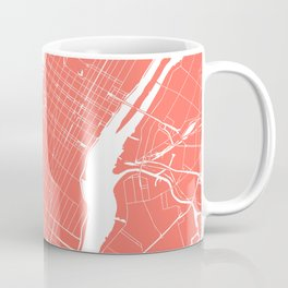 Living Coral New York City NYC Map II Coffee Mug