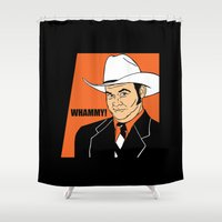 will ferrell Shower Curtains featuring Whammy! - Champ Kind by Buby87