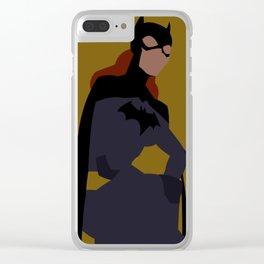 Batgirl Minimalism Clear iPhone Case