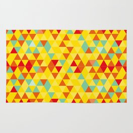Colored triangles Rug