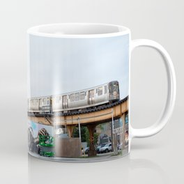Chicago El and Mural Coffee Mug