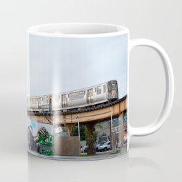 Chicago El and Mural Coffee Mug
