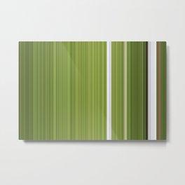 Sablo Lio Green White Metal Print