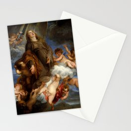 """Sir Anthony van Dyck """"Saint Rosalie Interceding for the Plague-stricken of Palermo"""" Stationery Cards"""
