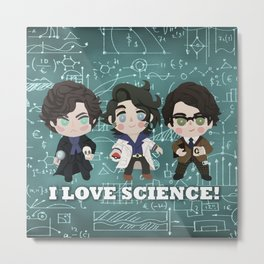 I love Science Metal Print