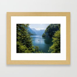 Germany, Malerblick, Koenigssee Lake III- Mountain Forest Europe Framed Art Print