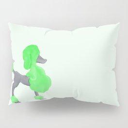 Little Green Poodle Pillow Sham