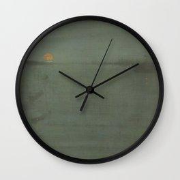 Nocturne - Blue and Gold - Southampton Water Wall Clock
