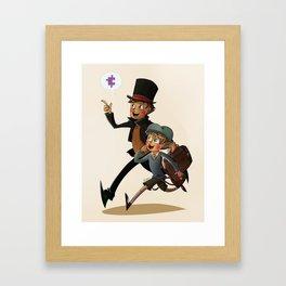 The Professor and Luke Framed Art Print