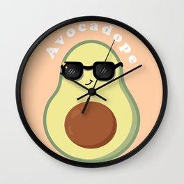 Avocado with Sunglasses Wall Clock