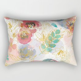 Golden flowers Rectangular Pillow