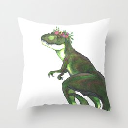 Pretty T-Rex Throw Pillow