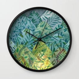 Tapestry Mountains Wall Clock