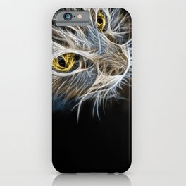 Cat Abstract iPhone Case