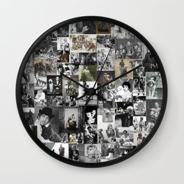 History of dogs in photos Wall Clock