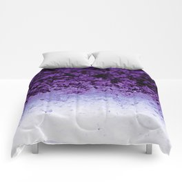 Purple Crystal Ombre Comforters