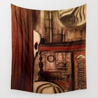 moby dick Wall Tapestries featuring Moby Dick by Leon T. Arrieta