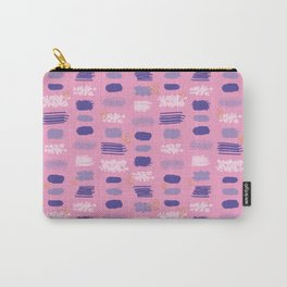 Pink Abstract Shapes Carry-All Pouch