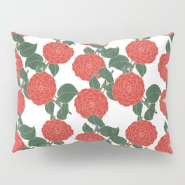 Red Dahlia Pillow Sham