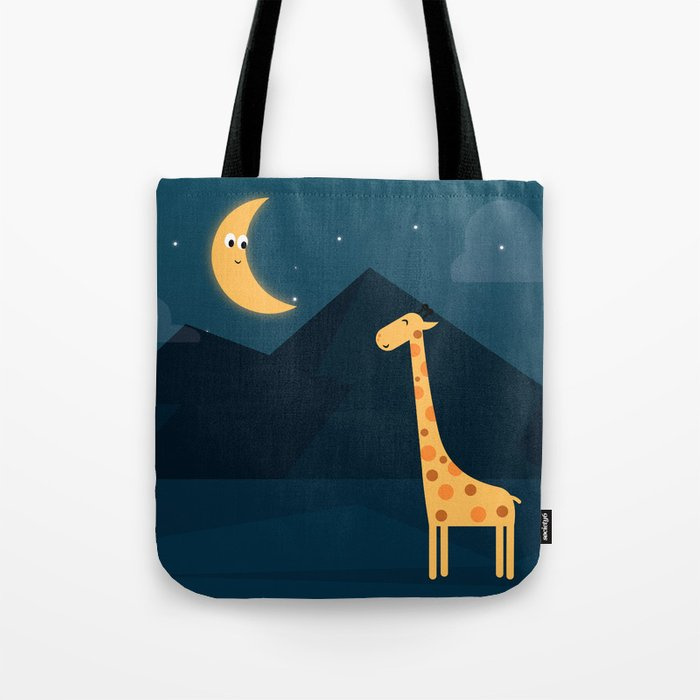 The Giraffe and the Moon Tote Bag