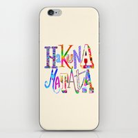 hakuna iPhone & iPod Skins featuring Hakuna Matata by Fimbis