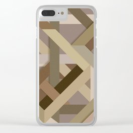 Abstract #379 Clear iPhone Case