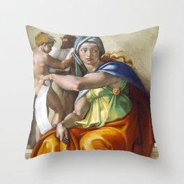 "Michelangelo ""Delphic Sibyl"" Throw Pillow"