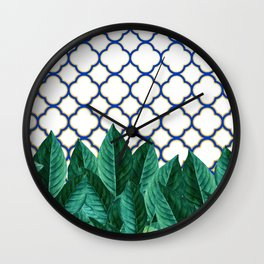 Leaves & Tiles #society6 #decor #buyart Wall Clock