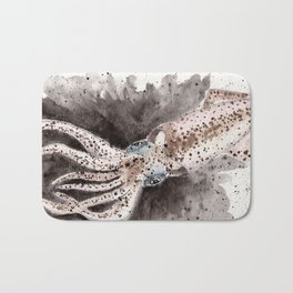 Squid ink and tentacles Bath Mat