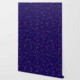 Blue Terrazzo Pattern Wallpaper