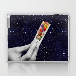Rolling Flower in Space Laptop & iPad Skin