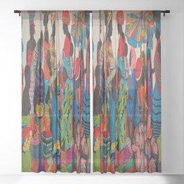 African market 3 Sheer Curtain