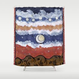 If the blue sky is a fantasy, Shower Curtain