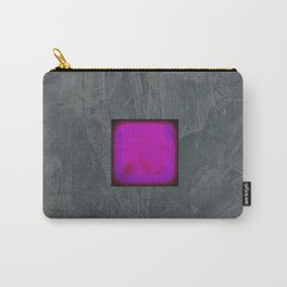 Slate Gray Lavender Fuschia Modern Art Carry-All Pouch
