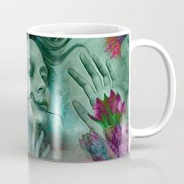 """""""Sirena between pastel cactus flowers"""" Coffee Mug"""