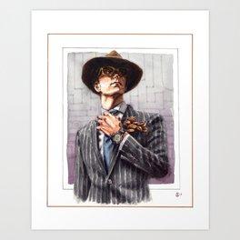 The Dapper Man Lives In Shadows Art Print