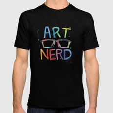 ART NERD Black MEDIUM Mens Fitted Tee