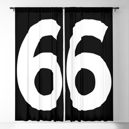 Number 6 (White & Black) Blackout Curtain