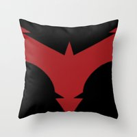 nightwing Throw Pillows featuring Nightwing 52 by Sdog1982