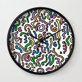 Friendly Wiggly Worms Pattern | Veronica Nagorny Wall Clock