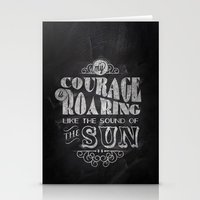 courage Stationery Cards featuring Courage by JenHoney