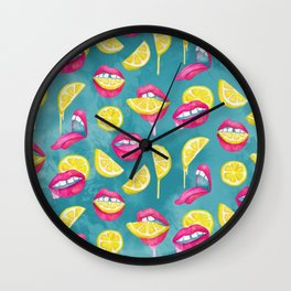 Bitch, Don't Kill My Vibe In Aqua Wall Clock