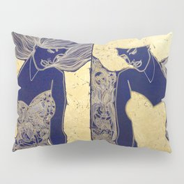 ANTICIPATION IN GOLD. DIPTYCH Pillow Sham